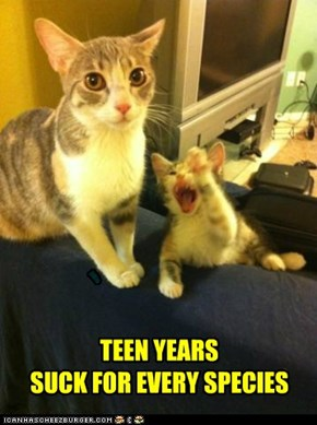 TEEN YEARS SUCK FOR EVERY SPECIES