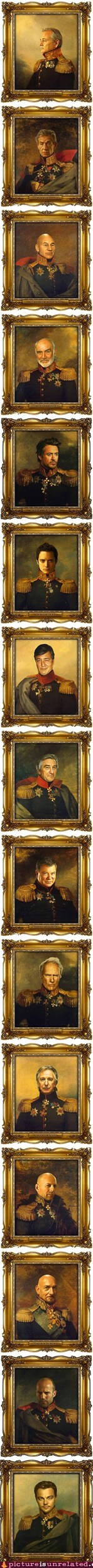 Famous Actors As 19th-Century Russian Generals