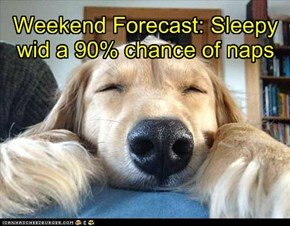 Weekend Forecast: Sleepy wid a 90% chance of naps
