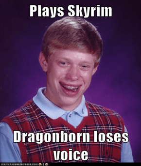 Plays Skyrim  Dragonborn loses voice