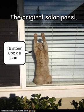 The original solar panel.