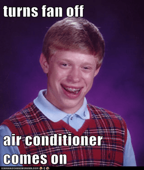 turns fan off  air conditioner comes on
