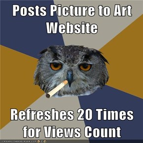 Posts Picture to Art Website  Refreshes 20 Times for Views Count