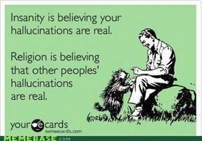 Religion vs Insanity