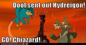 Doof sent out Hydreigon!  GO! Chiazard!