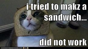 i tried to makz a sandwich...  did not work