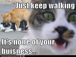 Just keep walking  It's none of your buisness...
