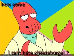 how come   i cant have cheezeburger ?