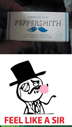 Mustache gum