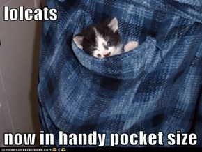 lolcats  now in handy pocket size