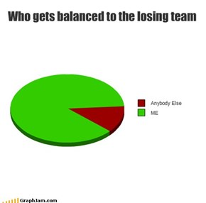 Who gets balanced to the losing team