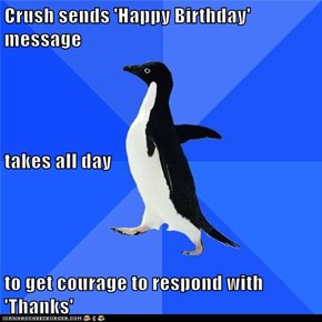 Socially Awkward Penguin: A Man of Few Words