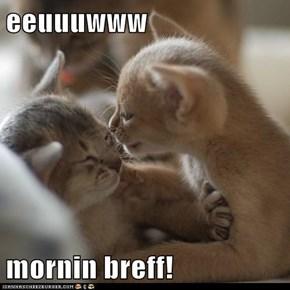 eeuuuwww  mornin breff!