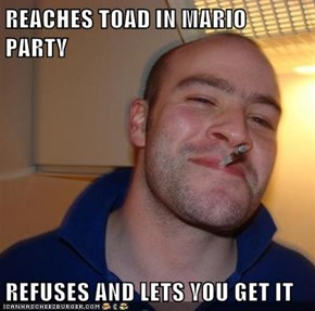 REACHES TOAD IN MARIO PARTY  REFUSES AND LETS YOU GET IT