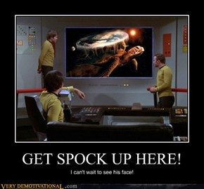 GET SPOCK UP HERE!