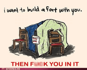 There's Nothing More Romantic Than a Blanket Fort