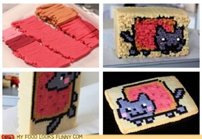 Nyan Cat Pixelated Cookies