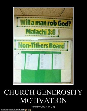CHURCH GENEROSITY MOTIVATION