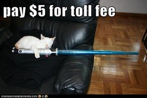 pay $5 for toll fee