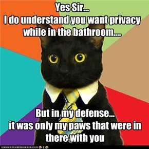 Yes Sir...  I do understand you want privacy while in the bathroom....