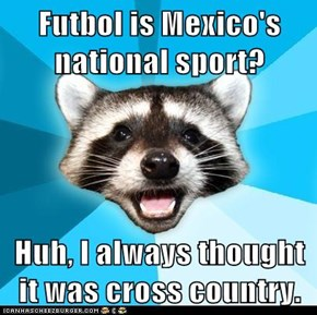 Futbol is Mexico's national sport?  Huh, I always thought it was cross country.