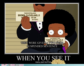 I was watching The Cleveland Show when suddenly I noticed something...