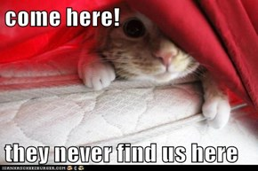 come here!  they never find us here