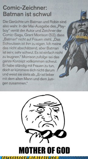 German Newsletter: Batman is gay