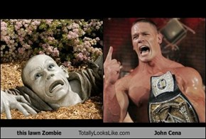 this lawn Zombie Totally Looks Like John Cena