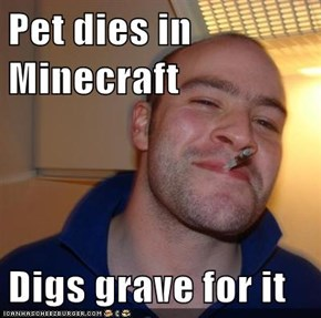 Pet dies in Minecraft  Digs grave for it