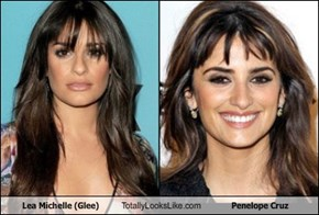 Lea Michelle (Glee) Totally Looks Like Penelope Cruz