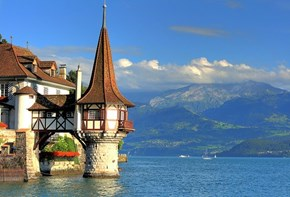 Oberhofen Castle and Thun Lake, Switzerland