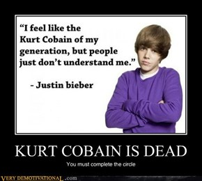 KURT COBAIN IS DEAD