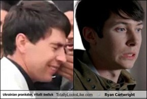 Ukrainian prankster, Vitalii Sediuk Totally Looks Like Ryan Cartwright
