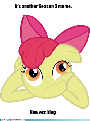 Applebloom is uninterested.