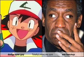 dodgy eyes guy Totally Looks Like ash ketchup
