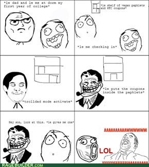 Trolling Vegans