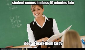 student comes in class 10 minutes late