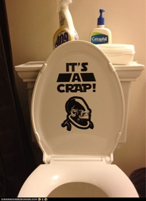 Star wars bathroom humor.
