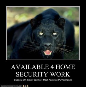 AVAILABLE 4 HOME SECURITY WORK