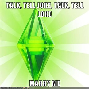 TALK, TELL JOKE, TALK, TELL JOKE  MARRY ME