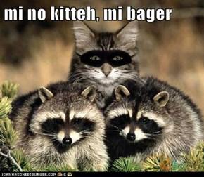 mi no kitteh, mi bager