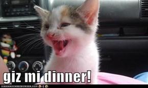 giz mi dinner!