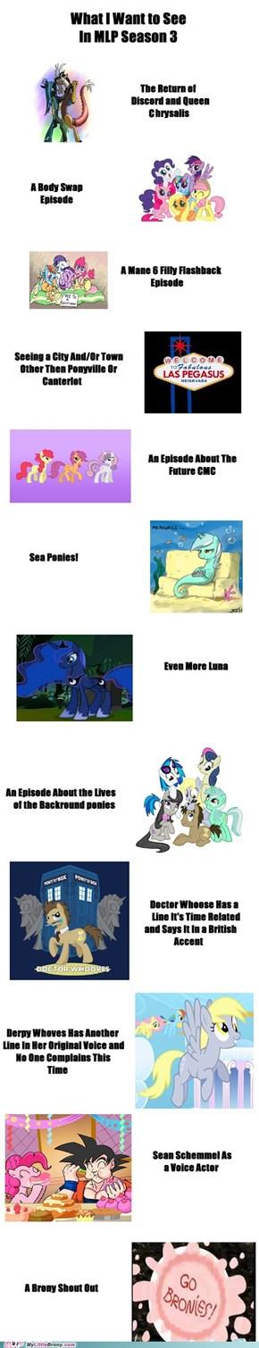 Season 3 Predictions