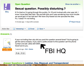 Dafuq is wrong with Yahoo Answers?