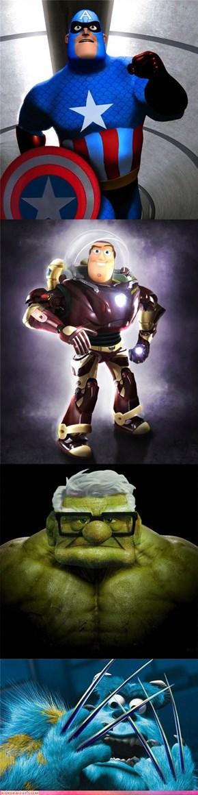 The Marvel Superhero/Disney Hybrids