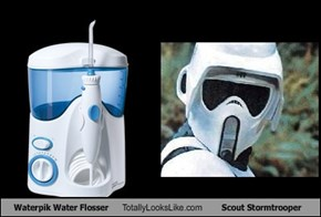 Waterpik Water Flosser Totally Looks Like Scout Stormtrooper