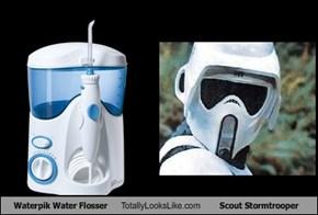 Waterpik Water Flosser Totally Looks Like Scout Stormtrooper