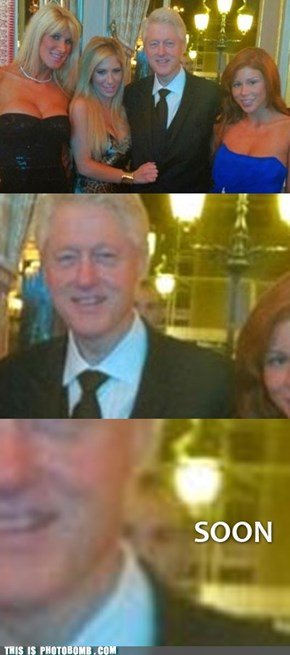 Clinton gets all the Chicks