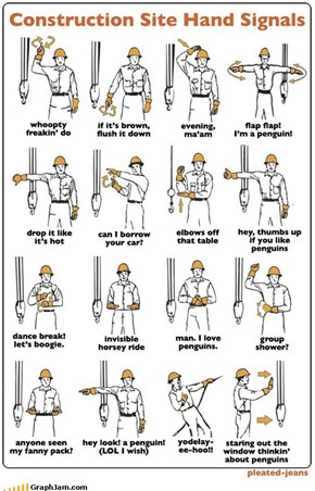 Construction Site Hand Signals